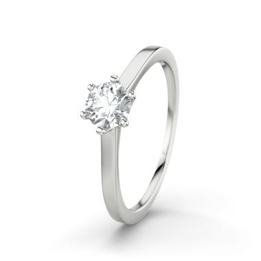 Diamantring  - Ring med DiamantRing med Diamant (Vitguld 18 K)  Mount everest