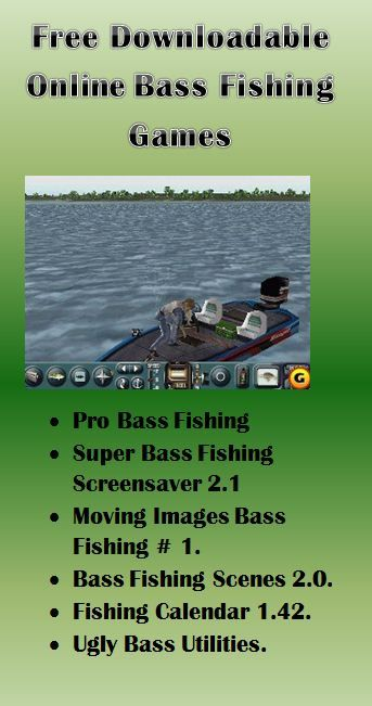 Launch those advises for Bass fishing with online bass fishing games.