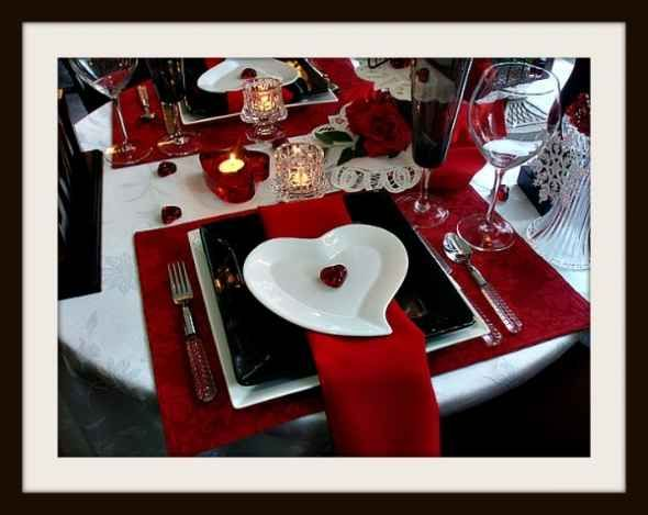 A Valentine's Day Tablescape with Red Dinnerware