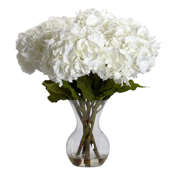 108 best artificial flowers in acrylic water images on pinterest so lifelike you may think about watering it but this large hydrangea silk flower arrangement mightylinksfo Gallery