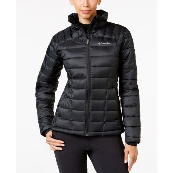 Columbia Pacific Post Thermal Coil Puffer Jacket (365 ILS) ❤ liked on Polyvore featuring outerwear, jackets, black, puffer jacket, puffer coat, columbia, puffy coat and columbia jackets