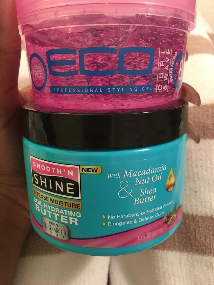 These two work wonders for my 4c hair! Gets my coils so defined! Eco Styler Gel: Curl and Wave Smooth 'N Shine Intense Moisture Coil Hydrating Butter