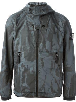 Stone Island Camouflage Print Jacket - Leam - Farfetch.com