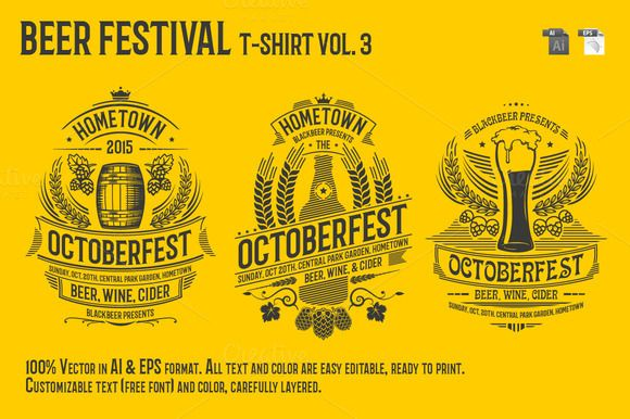 Beer Festival T-Shirt Vol. 3 by Rooms Design Shop on Creative Market