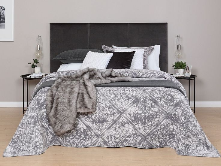 Florida Charcoal Bedspread