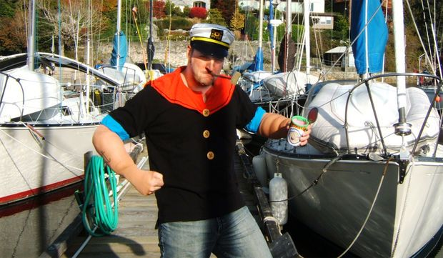 Instructable for Popeye costume