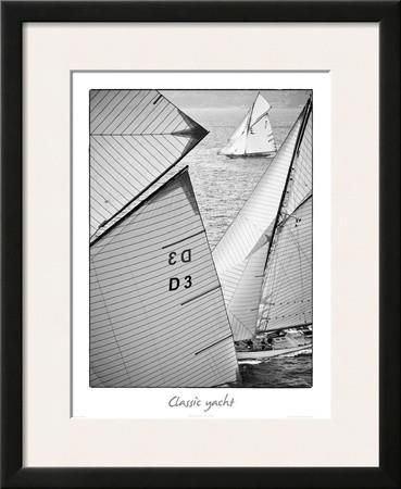 "Classic Yacht   18 x 22""  $114.99 Framed Art Print by Guillaume Plisson at Art.com"