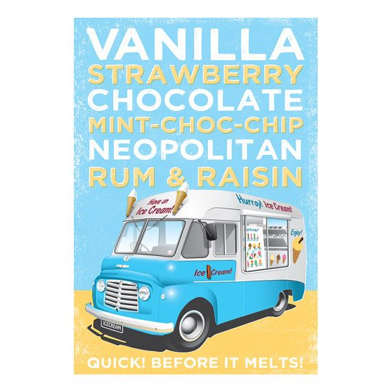 Print Of Classic Ice Cream Van