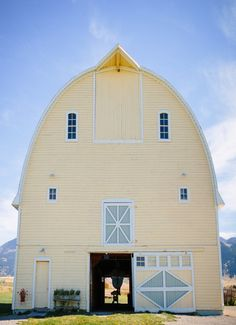 Pastel Yellow Barn