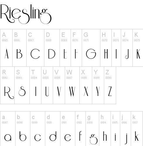 fuente-tipografia-vintage-retro-art-deco-riesling