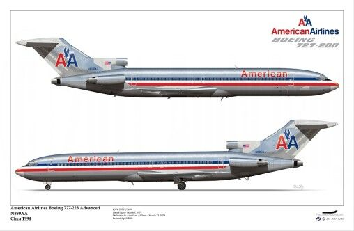 American Airlines B727-200