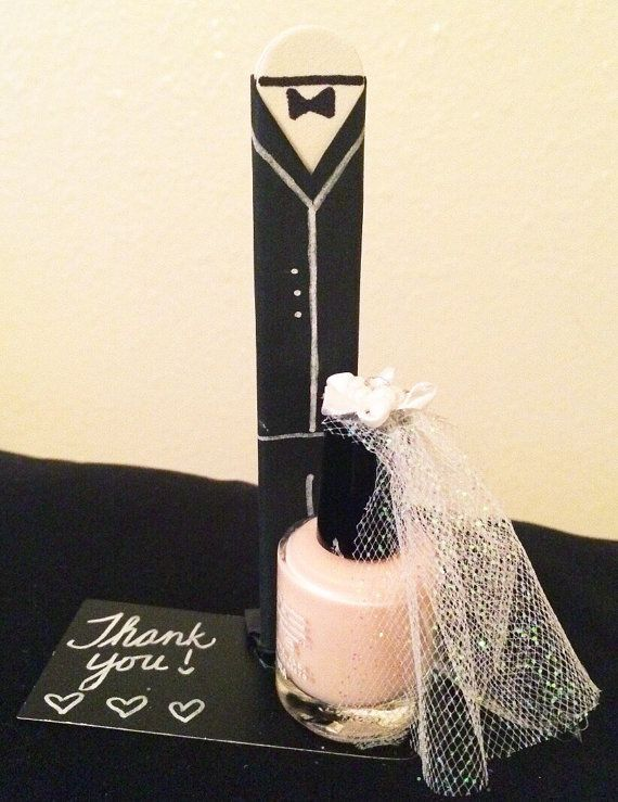 Nail Polish Bride And Groom Bridal Shower Favors Bridal