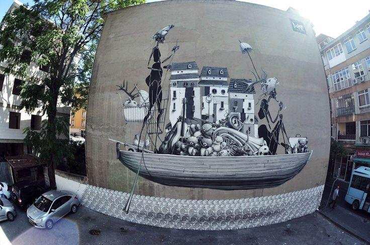 Street mural Istanbul, Turkey