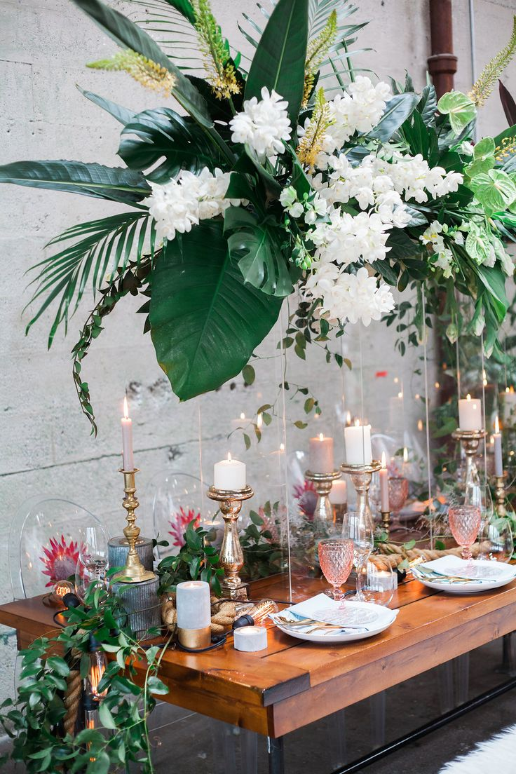 tropical weddings - photo by Katt Willson http://ruffledblog.com/stylish-tropical-wedding-inspiration-in-the-pacific-northwest