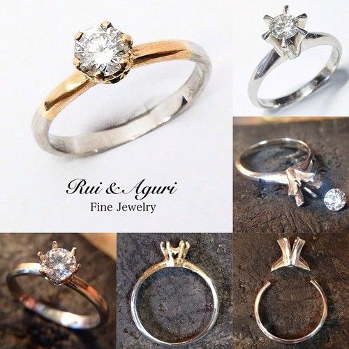 Just finished! From Original mother's engagement ring to new daughters engagement ring! Gold & platinum made diamond engagement ring! The diamond & Platinum band is from her mothers old engagement...