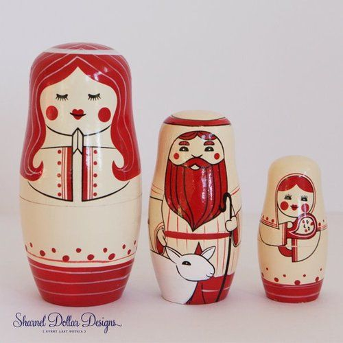 nesting dolls by Sharnel Dollar Designs
