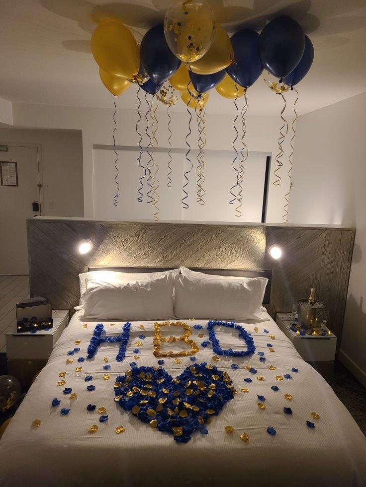 Gentlemen Birthday   Romantic room surprise, Romantic room ...