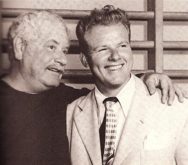 Fellow actors - on the left, b'day celebrant Alan Hale Sr. with his son Alan Hale, Jr. on the Right