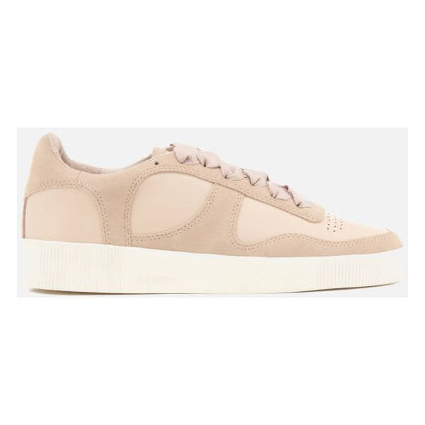 Senso Women's Amelie Leather/Suede Low Top Trainers - Peach (€185) ❤ liked on Polyvore featuring shoes, sneakers, nude, leather low tops, leather low top sneakers, low profile sneakers, peach shoes and leather sneakers