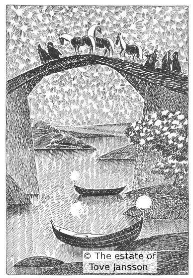 Tove Janssons »Hobbit«-Bilder: Die Brücke nach Bruchtal (S. 58)
