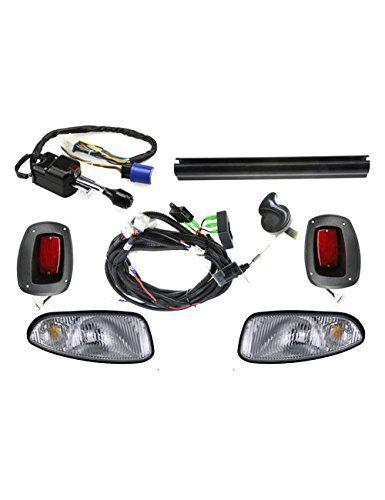 Halogen amp Street Legal LED Light Bar Kit for EZGO TXT