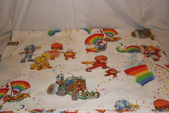 Hey, I found this really awesome Etsy listing at https://www.etsy.com/listing/201567357/vintage-1983-rainbow-brite-flannel-flat