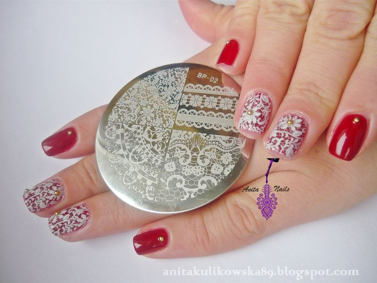 New nail art with stamping plate BP-02 from Born Pretty Store  My code ANTH10- 10%  http://anitakulikowska89.blogspot.com/2014/12/born-pretty-store-stamping-plate-bp-02.html