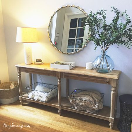 World Market Everett Foyer Table - - ON Sale now! Indoor Furniture Sale - Save up to 60% off plus an additional 10% off & FREE Shipping coupon codes! Blogger, Instagram & Pinterest Favorite! Stacy's Savings