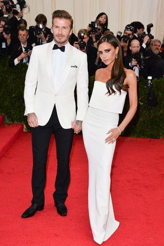 Red carpet del Costume Institute Gala 2014: David y Victoria Beckham en Victoria Beckham