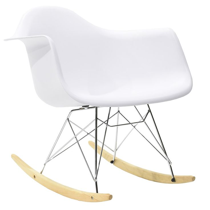 Propylene rocking chair Julita matte white