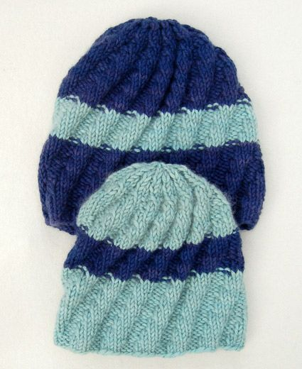 His + Her Knit Hats - the purl bee These would look awesome in orange and navy blue! Bears!