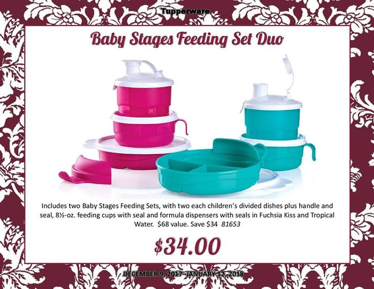 Tupperware Baby Stages Feeding Set Duo