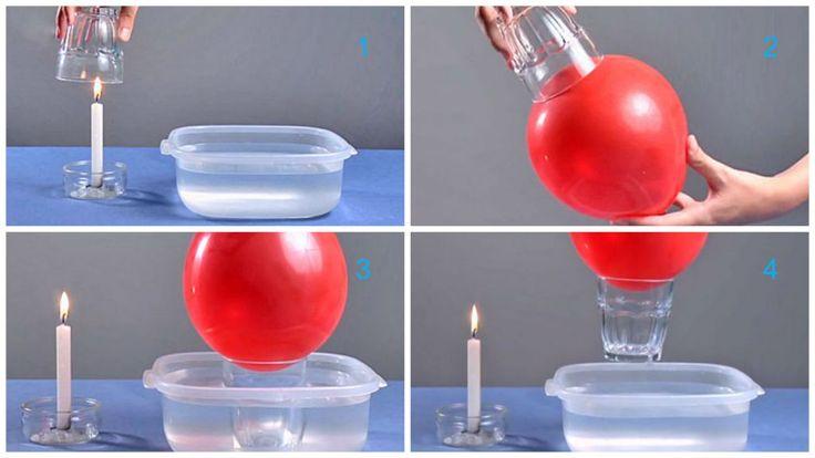 experimento globo levanta el vaso