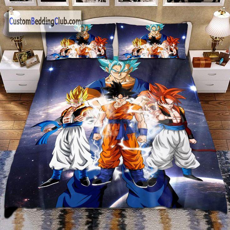 Best Dragon Ball Super Bed Set Blanket Dragon Ball Bedding 400 x 300