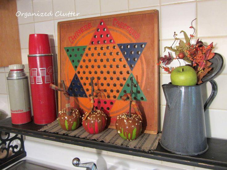 Vintage Fall Kitchen Display