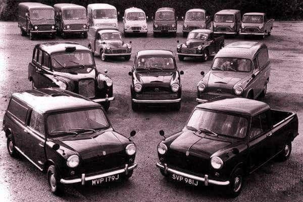 The Austin Light Commercial Range. Mini Van & Pick Up, FX4 Taxi, A60 Van & Pick Up, Minor Van & Pick Up, EA Vans, JU250 Van, Minibus & Pick Up and J4 Van & Pick Up