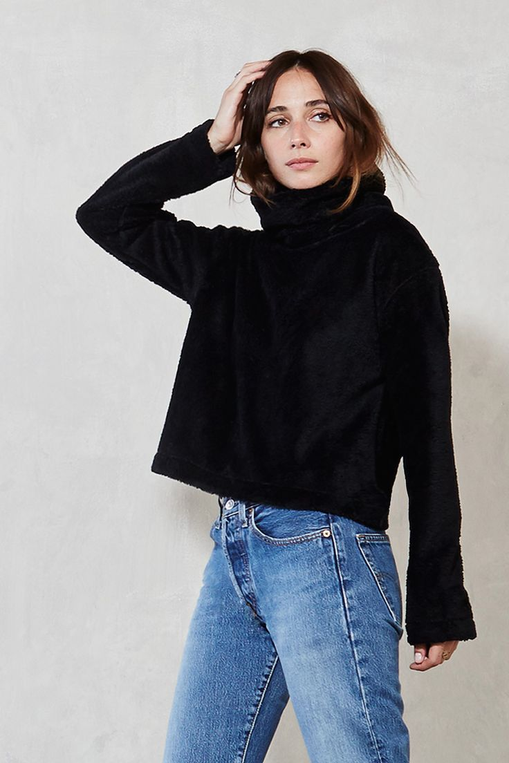 The Wyoming Sweater - Why not go about your day feeling like you're wearing a soft, fuzzy cloud? We couldn't think of any reasons why you shouldn't, so we made the Wyoming Sweater. It's a turtleneck fleece sweater with long sleeves and a wider fit. Look chic, stay cozy.