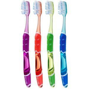 GUM Tandenborstel Technique PRO Compact Soft  Description: GUM Technique PRO Soft Unieke tandenborstel die dankzij het handvat dwingt te poetsen onder een hoek van 45 graden. Zeer dunne hals reikt gemakkelijk achter in de mond. In vergelijking tot een gewone tandenborstel verwijderd de Technique PRO tandenborstel tandplak 7x effectiever. Speciaal ontworpen voor optimale tandplakverwijdering en vermindering van gingivitis (tandvleesontsteking). De tandenborstel wordt geleverd in de kleur…