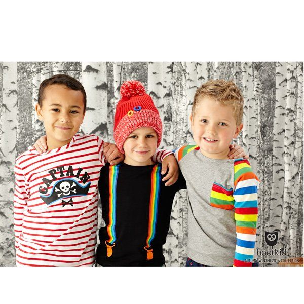 A Funky Tee for your boys from Hootkid. Our Hootkid Straight Up Black Tee features a fun rainbow stripe braces print on the front.  Hootkid Kids Clothing is a new Australian brand full of bright, bold and comfortable clothing for babies and children.  100% cotton / machine washable.$32.95 http://hollyandeddie.com.au/item_1928/Hootkid-Straight-Up-Black-Tee.htm#.U0XtDPmSwTM #boysclothing #hollyandeddie