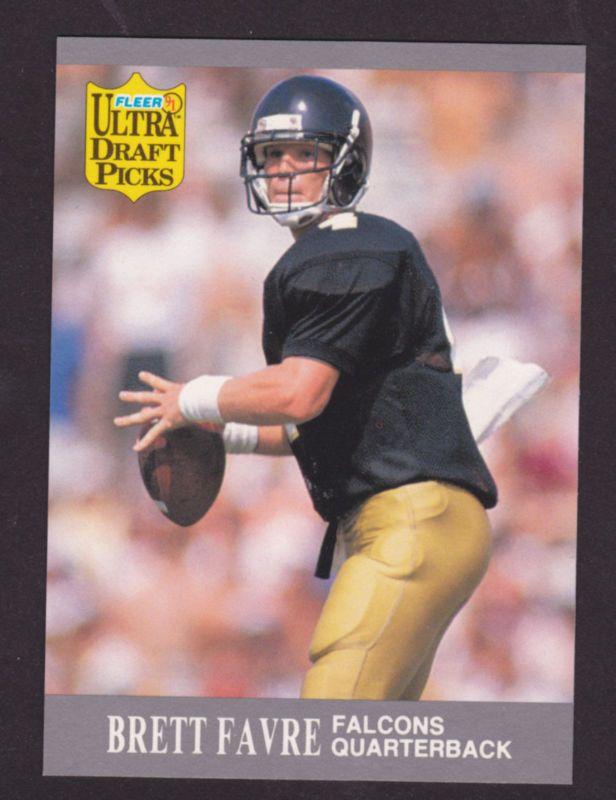 1991 Fleer Ultra Draft Picks Brett Favre Rookie Card #283 FALCONS PACKERS