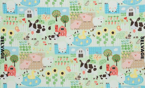 Fabric baby barnyard nursery fabric for our someday for Boy nursery fabric