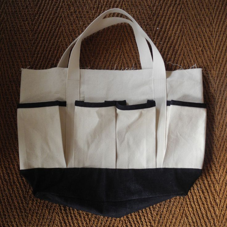 'No. Don't go.' Multi-purpose tote in progress, made from 100% organic cotton canvas and indigo-dyed denim