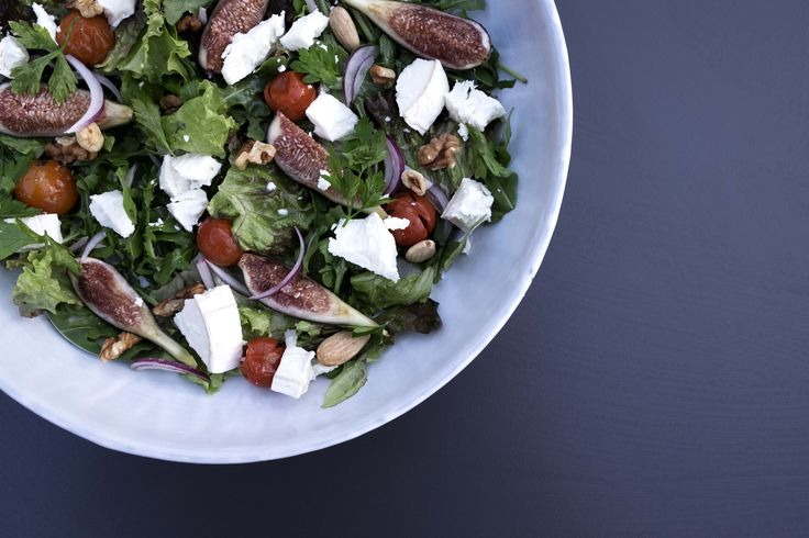 A fresh salad in the tinekhome salad bowls. Hand dipped and glazed.