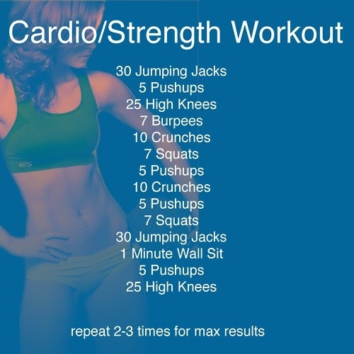 cardio: Workout At Home, Work Outs, Strength Workout, Workout Plans, Cardio Workout, Exercise Workout, At Home Workout, Cardio Strength, Weights Loss