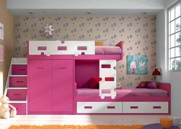 Dormitorio infantil 547 f2012012 habitacon pinterest for Cuartos para ninas literas