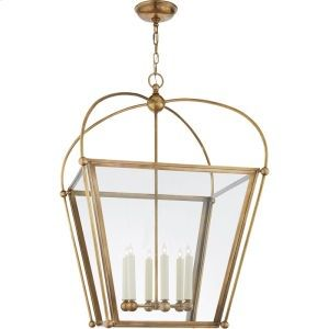 CHC3440ABCG in Antique Burnished Brass by Visual Comfort in Bowling Green, KY - Visual Comfort CHC3440AB-CG E.F. Chapman Plantation 6 Light 29 inch Antique Burnished Brass Foyer Lantern Ceiling Light, E.F. Chapman, Large, Clear Glass