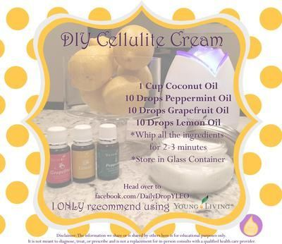 I use this homemade cellulite cream to support smoother legs, and it is so easy to make!   All you need is Coconut Oil, Peppermint Essential Oil, Grapefruit