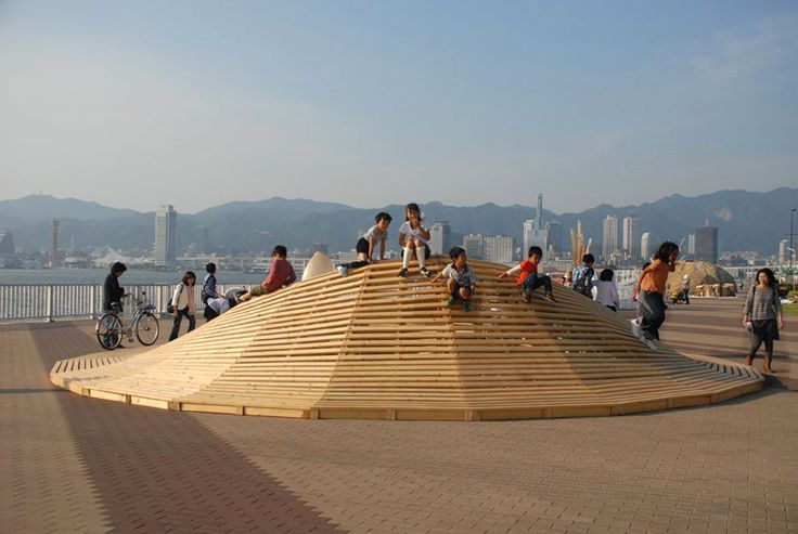 mobiliário urbano muito bem feito: Design Wooden, Architecture Photo, Parametric Design, 24D Studios Craterlak 5, Playscap Design, Playground Design, Lakes Installations, Crater Lakes, Inspiration Installations