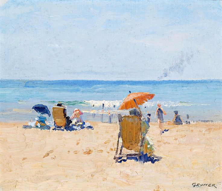 "gruner elioth tamarama beach 1920 sotheby (from <a href=""http://www.oldpainters.org/picture.php?/26830/category/10492""></a>)"