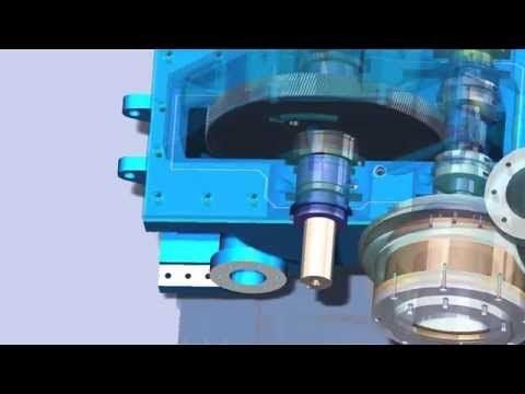 Integrally Geared Centrifugal Compressor SolidWorks Animation (Turbomachinery) Engineering Portfolio - YouTube